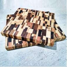 Доска для нарезки разделочная деревянная /дуб, орех/