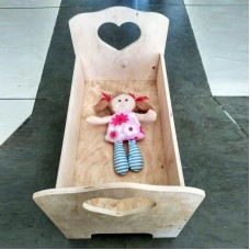 Кроватка для куклы из фанеры