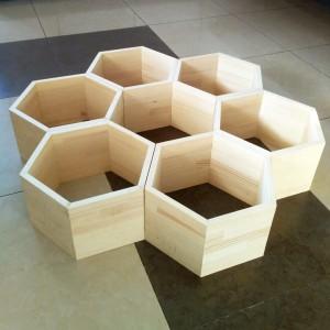 Полка Сота деревянная